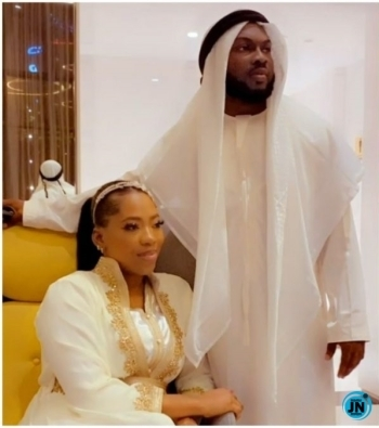 """""""I've got a good wife in South Africa, I married you for clout"""" – Video Vixen, Bolanle's husband continues to rant"""